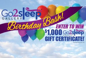 Go2sleep Birthday Bash! Click for details.