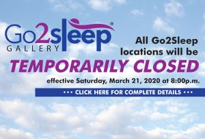 Go2sleep Temporarily Closing