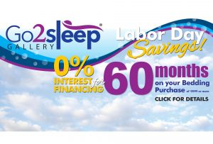 Go2sleep Gallery Labor Day Sale